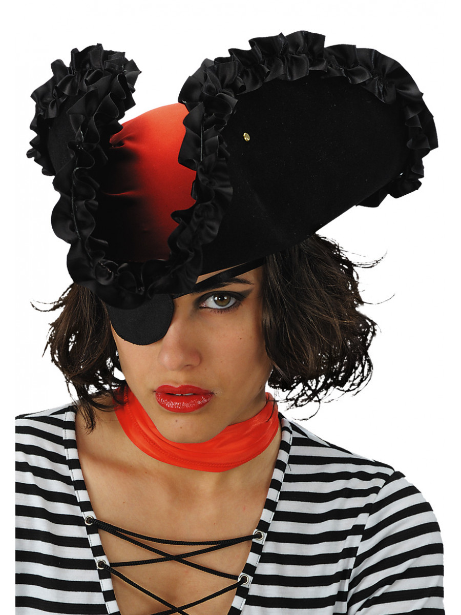 CAPPELLO PIRATESSA PERLA NERA