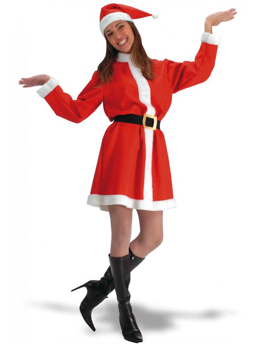 Babbo Natale Femmina Immagini.Costume Da Babbo Natale Donna In Tela Ro Ssa