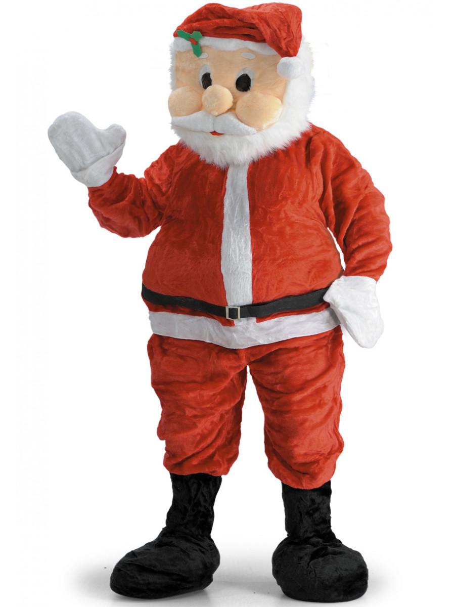 Babbo Natale Peluche.Costume Mascotte Babbo Natale In Peluche Festashop Very Important Party