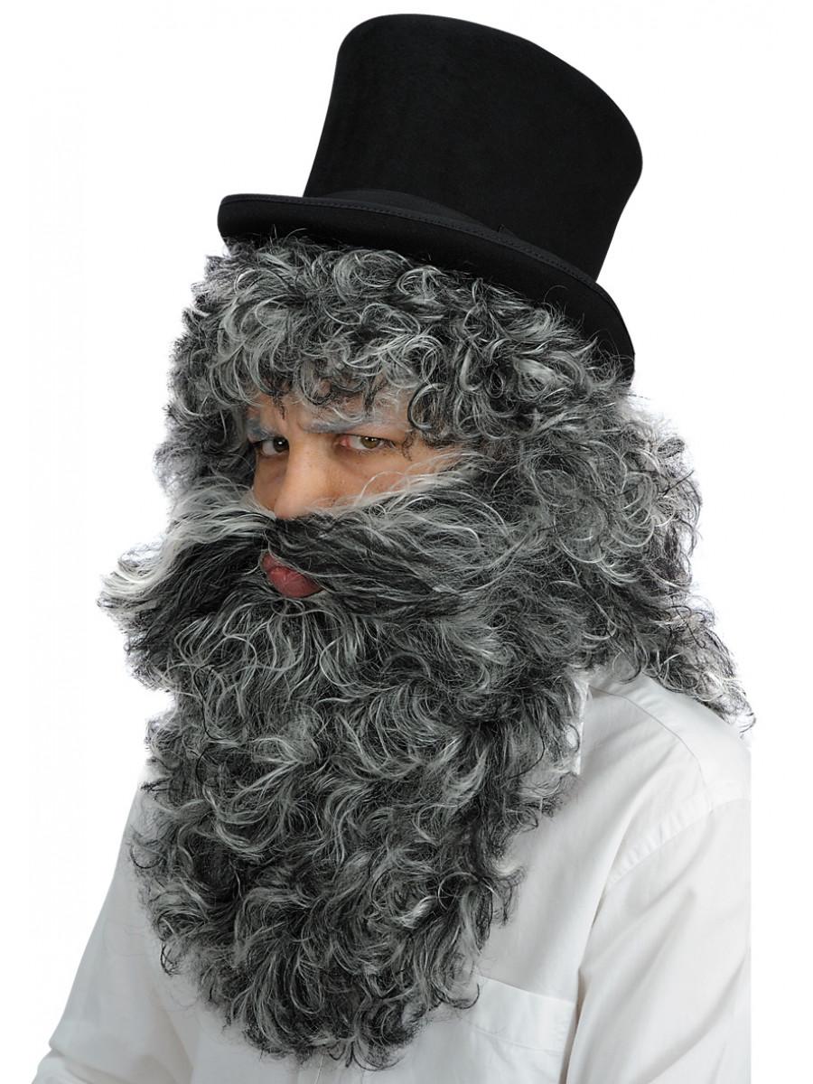 Parrucca mangiafuoco con barba festashop very important party