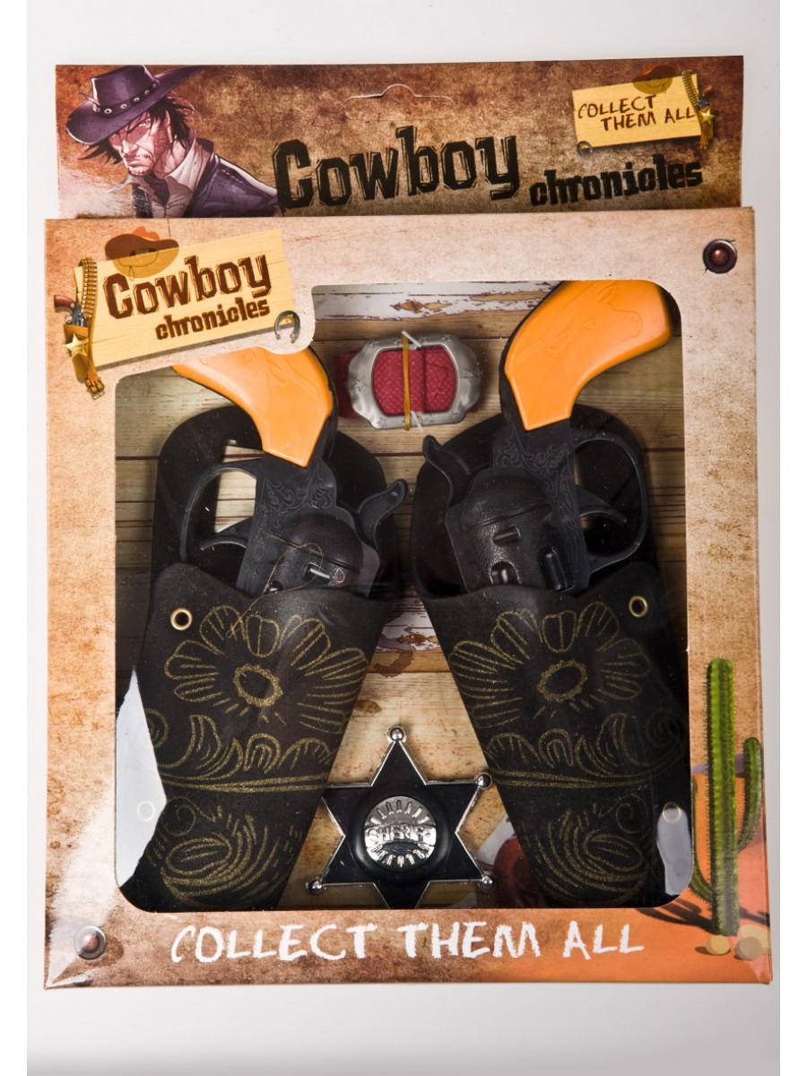 CINTURONE DA COW BOY CON PISTOLE E STELLA DA SCERIFFO