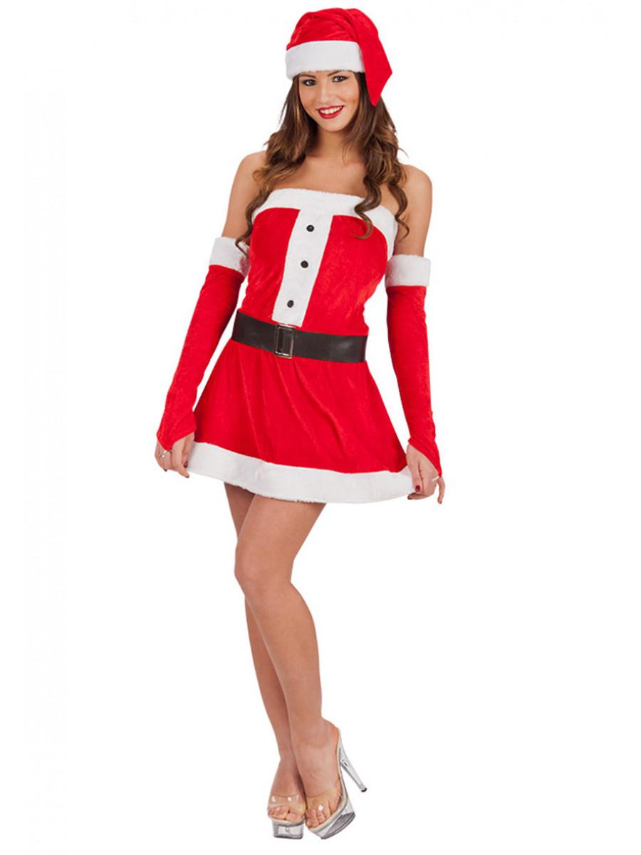 Immagini Babbo Natale Donna.Costume Da Babbo Natale Donna Taglia Uni Ca