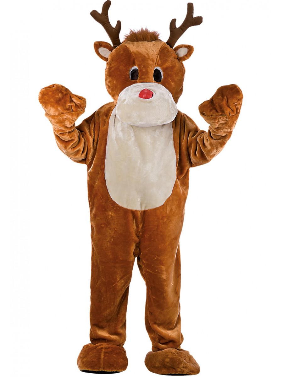 Renne Babbo Natale.Costume Mascotte Renna Di Babbo Natale Festashop Very Important Party