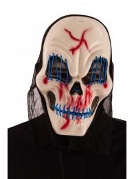 Maschera scheletro con luci