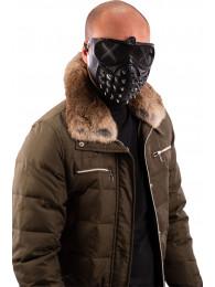 Maschera nera con borchie