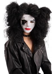 Maschera viso bianco con decorazioni in silicone