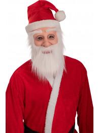 Maschera Babbo Natale in lattice c/barba e cappello c/cavallotto