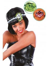 Fascia per capelli Halloween mod. ass. c/cav.