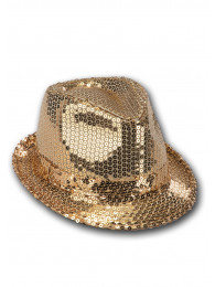 CAPPELLO GANGSTER ORO  PAILLETTES