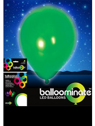 5 PALLONCINI LUMINOSI VERDI BALLOOMINATE