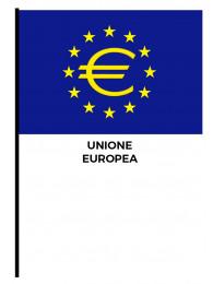 BANDIERINA CM.10x15 UN.EUROPEA CON ASTA E SIMBOLO EURO