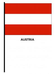 BANDIERINA CM.20x30 AUSTRIA CON ASTA