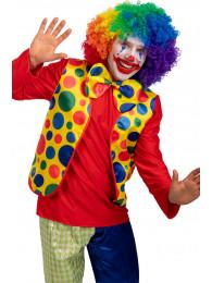 Set clown (gilet e papillon) in busta c/gancio