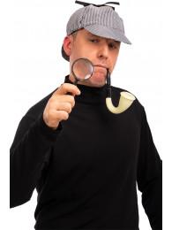 Set investigatore (cappello,lente,pipa) su cartoncino