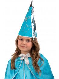 Cappello fatina azzurra in carta h.cm.30 ca. c/cartellino/etichetta
