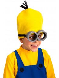 Occhiali omino giallo senza lenti su cartoncino