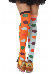 CALZE  CLOWN CON POIS COLORATI