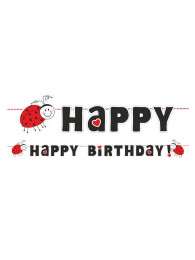 FESTONE HAPPY BIRTHDAY COCCINELLA LUNGHE ZZA CM 180