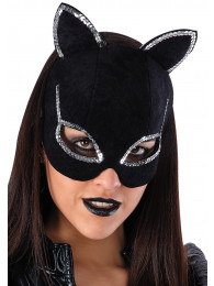 MASCHERA CAT WOMAN IN DAINETTO CON STRASS