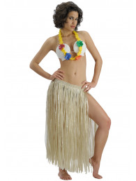 GONNA HAWAIANA LUNGA cm 80 COLOR BEIGE NATURALE