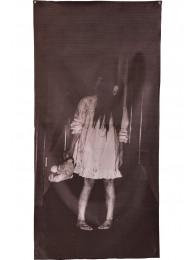 Tenda per finestra con stampa horror h.cm.160x75 ca. in busta c/cav.