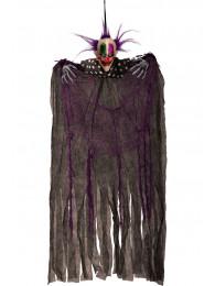 Clown d'appendere c/capelli viola h.cm.75 ca. c/cartellino/etichetta