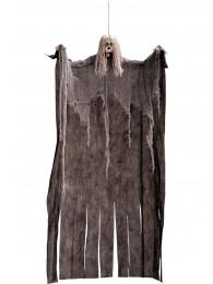 Bambola horror grigia d'app. h.cm. 120 ca. in busta