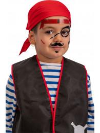 Cartella decorazioni adesive viso pirata in busta su cartoncino