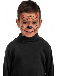Cartella decorazioni adesive viso tigre in busta su cartoncino