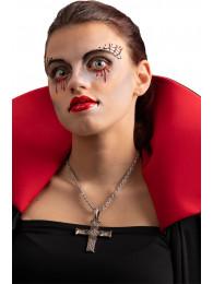 Cartella decorazioni adesive viso vampira in busta su cartoncino