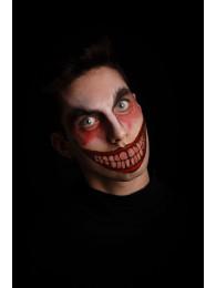 Cartella tatuaggio bocca clown horror in busta su cartoncino
