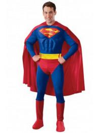 COSTUME SUPERMAN ADULTO CON MUSCOLI TAGLIA M