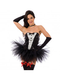 BUSTIER PLAY GIRL CON PAILLETTES