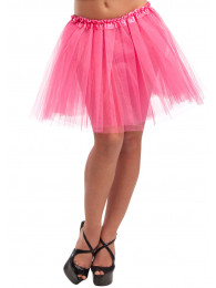 SOTTOGONNA ROSA IN TULLE LUNGH. CM 38