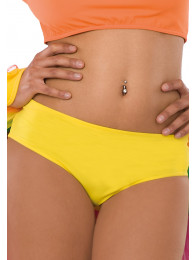 CULOTTE GIALLE TG. UNICA IN LYCRA