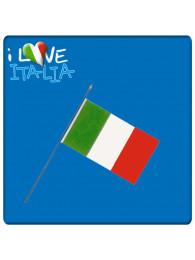 BANDIERINA ITALIA CM 10X15  CON ASTA