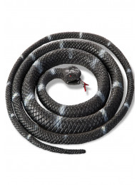 SERPENTE NERO IN PLASTICA LUNGH. CM 110