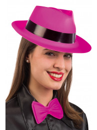 CAPPELLO GANGSTER FLUO IN PLASTICA COLORI ASSORTITI
