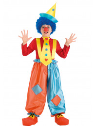 SET CLOWN - PANTALONI,CRAVATTA,CAPPELLO